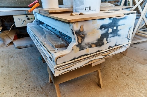 grand piano body restoration
