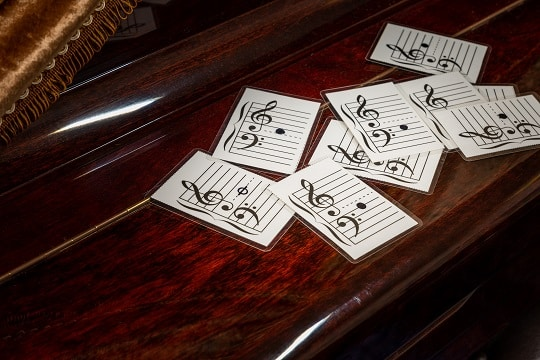 piano flash cards